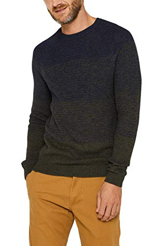 ESPRIT Herren 099Ee2I005 Pullover, Grün (Dark Khaki 355), X-Large (Herstellergröße: XL)