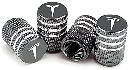 4 Piezas Tapas Para Válvulas, para 15mm Tesla MODEL S S X 3 Y Roadster Neumático Automóvil Prueba De Polvo Antirrobo Aleación Aluminio Neumático Accesorios