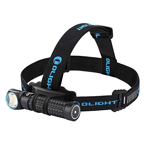 OLIGHT Perun 2000 Lumens Magnetic USB Rechargeable Headlamp with Head Strip, Multi-functional Reliable Right Angle Light Powered by Customized 18650 3500mAh Battery, Waterproof IPX8