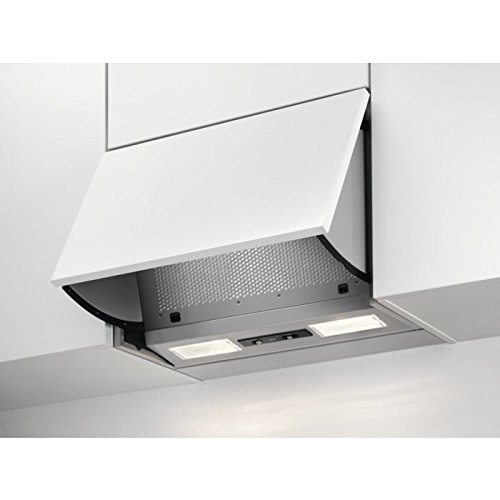 AEG DEB1621S Dunstabzugshaube (Einbau) / klappbar mit 3 Leistungsstufen / 59,8 cm Einbau Dunstabzugshaube / Vlies-Fettfilter / LED-Beleuchtung / 66,1 kWh pro Jahr / grau