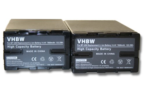 2 x Set baterías 7800mAh con Infochip para cámara Sony PMW-EX1 PMW-EX3...