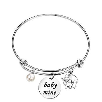 Elephant Bracelet Baby Mine Bangle Gift for DaughterPainter Gift Jewelry Art Teacher Gifts Art Lovers Gift
