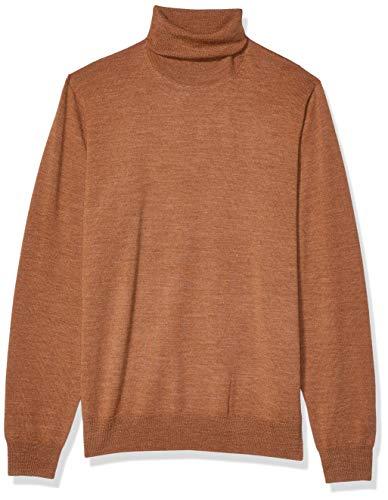 Amazon Brand - Goodthreads Men's Lightweight Merino Wool/Acrylic Turtleneck Sweater, Camel Medium