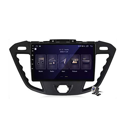 Gokiu Android 10 Autoradio 2 DIN con Schermo per Ford Tourneo Custom Transit 2012-2021 Supporta SWC WiFi 4G 5G Bluetooth/RDS FM AM Radio/GPS Navigazione/Built-in Carplay Android Auto DSP,M150
