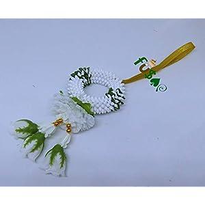 "fusap thai rose jasmine garland fabric flowers- plastic flower rose handmade dia 3"" (green) silk flower arrangements"