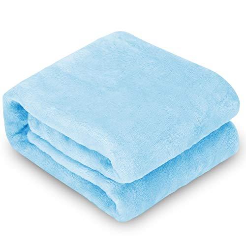 Nobleza Morbida Coperta in Pile per Cani e Gatti Confezione Color Blu Misure 75x75cm