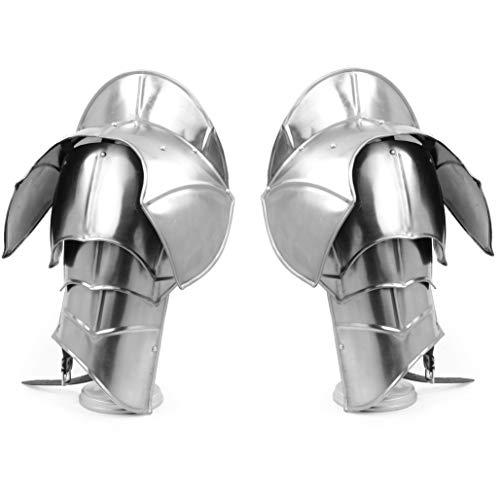 Medieval Steel Shoulder Pauldron Armor Set (20 Gauge) Authentic Medieval Amour Pair of Shoulder Sets