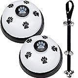 Kupink 3PCS Campanas de Entrenamiento para Mascotas Campanas para Entrenamiento de Perro Cuerda de Nailon Ajustable para Inodoro para Entrenamiento y Comunicación