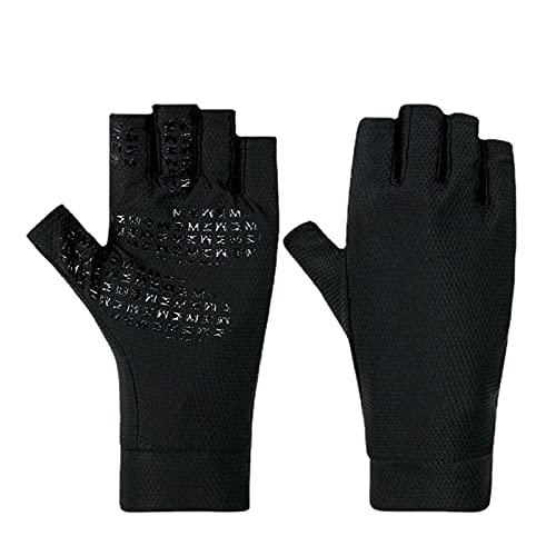 Guantes de ciclismo de medio dedo Guantes de medio dedo. Protección contra UV Aislamiento térmico y secado rápido Hombres y mujeres deportivos al aire libre MANTALIANDO PANTALLOS Guantes protectores d