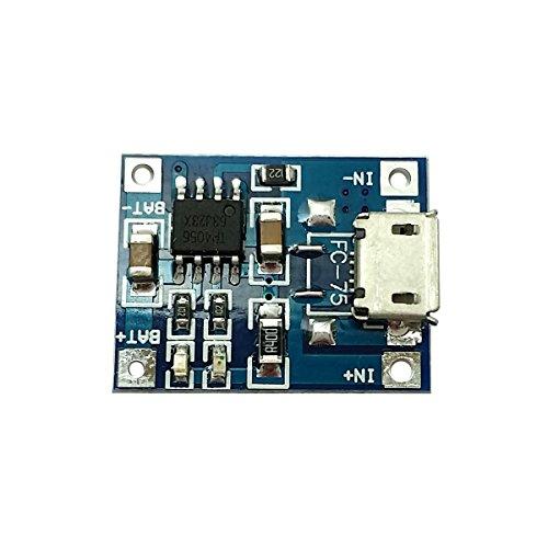 Ecloud Shop® 2 pièces 1A Lithium Charge de la Batterie Port USB Board Lipo Chargeur Module DIY Micro