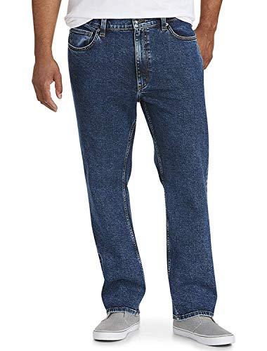 Amazon Essentials - Pantalones vaqueros elásticos de corte recto para hombre, Azul (Medium Wash), 33W / 28L