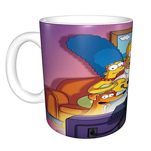 The Simpsons Taza de café de cerámica brillante, taza de té para oficina y hogar, 330 ml, apta para lavavajillas y microondas, 1 paquete