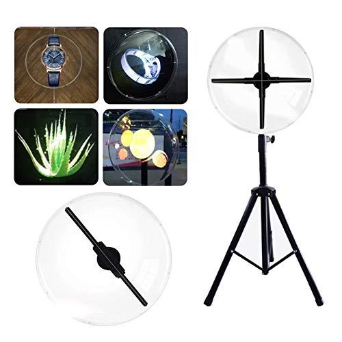 Cubierta de Pantalla Publicitaria Holográfica 3D,Acrílico Transparente Holograma Cubierta Protectora Ventilador LED Proyector Máquina Publicitaria Pantalla Protector Carcasa para Tiendas Oficina(56CM)