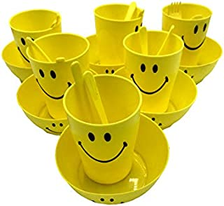 Kids Trends Smiley Single Wall Bowl Gift Set of Bowl & Mug for,Return Gifts for Kids Birthday Party (Pack of 6)