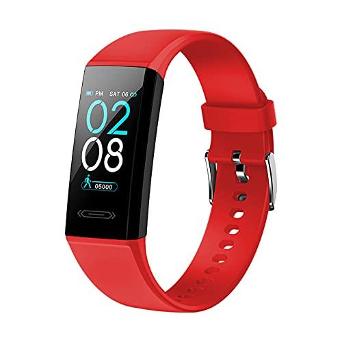 SUPBRO Pulsera de fitness inteligente resistente al agua IP68, pantalla a color de 1,14 pulgadas, monitor de actividad, pulsómetro, podómetro, reloj inteligente para hombre y mujer