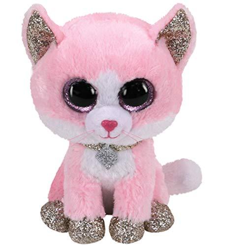 TY 2007516 Fiona Cat Beanie Boo Pink Stuffed Animal, Multicoloured