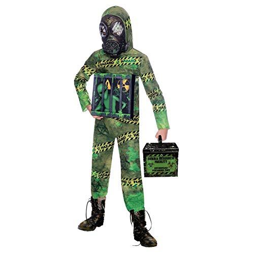 Amscan 9907147 – barndräkt zombie utomjording, overall och mask, temafest, karneval, halloween