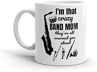 Crazy Band Mom Coffee Mug Marching Band Mom Coffee Cup Instrument Mother Gift For Her Music Lover Gift Funny Mug Tea Mug Music Teacher Gift