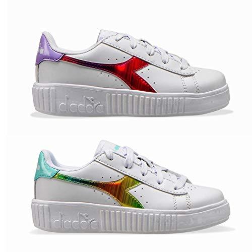 Diadora Scarpe Snekers Lifestyle Sportswear Game Step Rainbow GS Youth Girl 4- UK, 37 EU