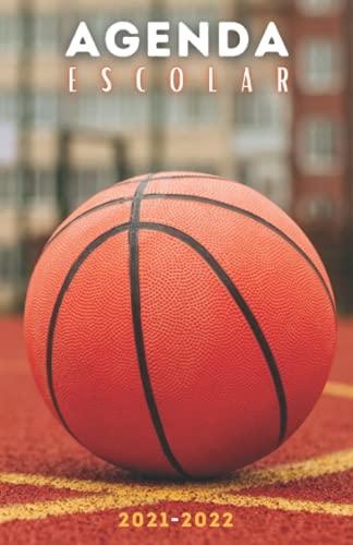 Agenda Escolar 2021-2022 baloncesto: Agendas 2021-2022 dia por pagina | Planificador diario para niñas y niños | Material escolar colegio secundaria estudiante | Portada basket ball