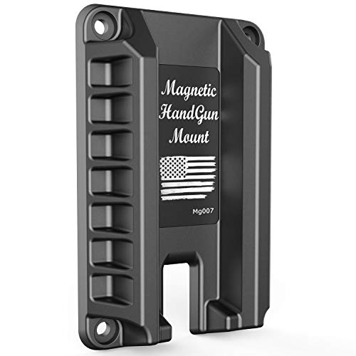 MytypeMag Gun Magnet Mount | Magnetic Handgun Mount / Holder - Concealed Tactical Firearm Accessories / Gun Accessories Holder for Truck, Car, Wall, Vehicle -Mg007