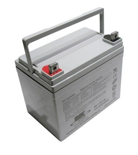 Pair of 12V 35Ah MK Sealed Lead Acid (AGM) Mobility Scooter Batteries (MU-1 SLD M-2) (One Colour / One Size)