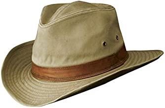 Dorfman Pacific Men's Twill Outback Hat,Khaki,Large