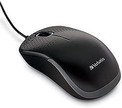 Verbatim Silent Corded Optical Mouse - Black
