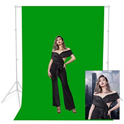 1.8 x 2.7M Verde 100% cotone Photo Studio Video mussola Fotografia Sfondo Sfondo