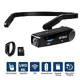 Videoregistratore ORDRO EP6 4K Mini Videocamera Testa Indossabile Videocamera FPV Videocamera Full...