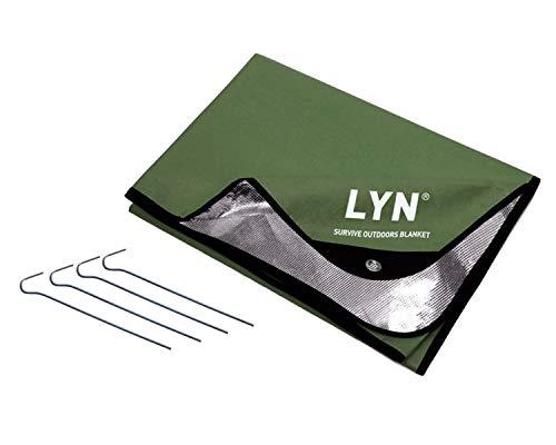 LYN Strapazierfähige Überlebensdecke, Notfalldecke, extra große Thermoplane, reflektierend, wetterfest, wasserdicht, 95 % Wärmerückhaltung, reißfest, wiederverwendbar, Decke für Auto oder Camping