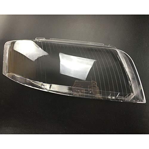 Qgg Auto-Frontscheinwerfer Lampshade Glaslampenschirm Shell Lampe Transparent Abdeckung Objektiv Shell Cover Fit for Audi A6 C5 1997-2003 FF Scheinwerferabdeckung