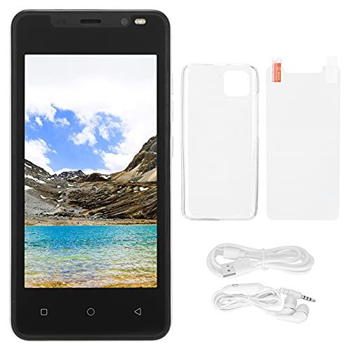 CUTULAMO 512 MB + 4 GB de teléfono Inteligente, Potente procesador de teléfono Inteligente con Pantalla IP12 Pro de 4,66 Pulgadas 512 MB + 4 GB para Tarjetas Dobles 4.4.2 Doble Modo de Espera(White)