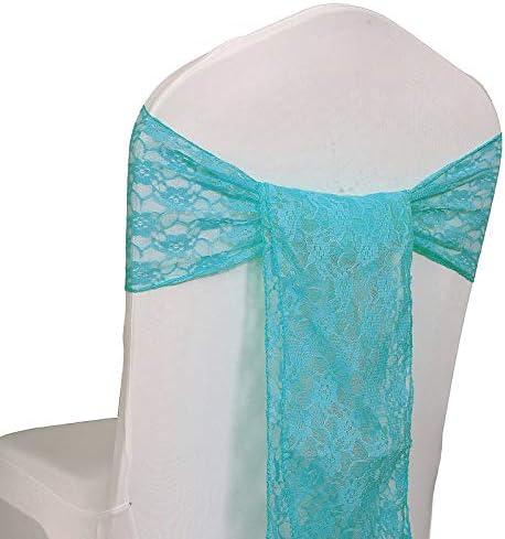 人気 VDS - 150 PCS Lace Chair Sashes Banquet Party AL完売しました Bows for D Wedding