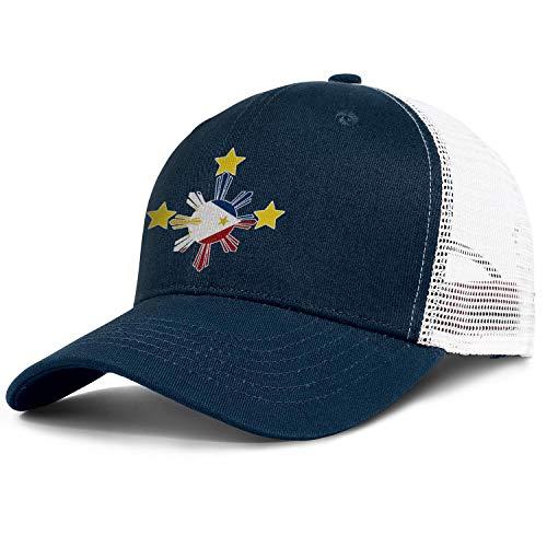 Unisex Duck Tongue Hat Trucker Hat Mesh Cap (Filipino Philippines Flag)