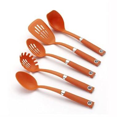 Rachael Ray Tools 5-Piece Soft-Grip Tool Set, Orange