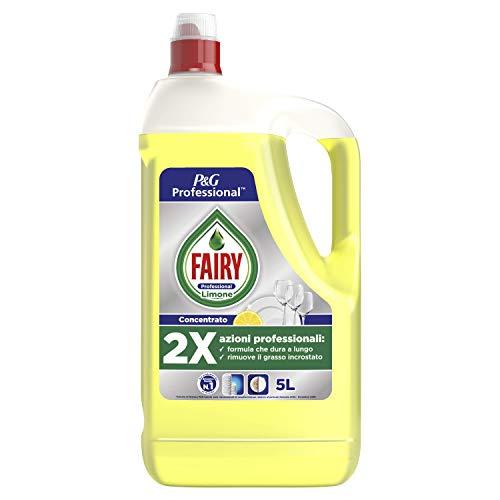 Fairy Professional Limón - Detergente líquido para platos a mano, 10 l, tamaño grande, 2 x 5000 ml