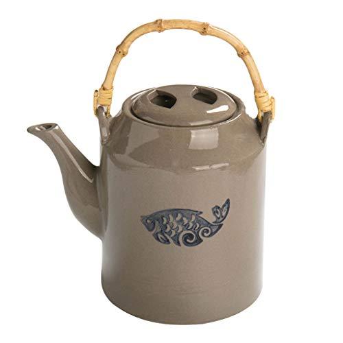 Teiere e caraffe per caffè Teiera in ceramica Teacup Set cinese ceramiche in gres Glaze Gloss stile vintage teiera della porcellana for Kungfu Tè grande capacità Raffreddare bollitore Bollitore Teiera