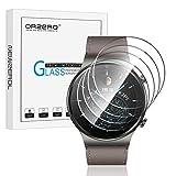 NEWZEROL 4 Stück kompatible für Huawei Watch GT 2 Pro Panzerglas,Huawei gt2 Pro Classic, Sport 46mm Schutzfolie 2.5D Arc Edges 9H Glas Bildschirmschutz Anti-Kratzer blasenfrei Schutzfolie-Transparent