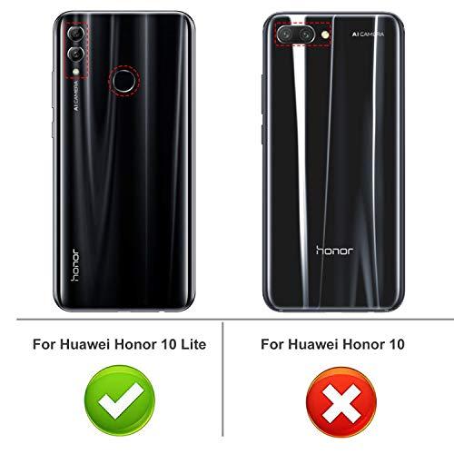 iBetter Honor 10 Lite Hülle, Ultra Thin Tasche Cover Silikon Handyhülle Stoßfest Case Schutzhülle Shock Absorption Backcover Hüllen passt für Honor 10 Lite Phone (Schwarz) - 2