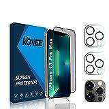 KONEE [1 + 2 Piezas Protector de Pantalla de Privacidad + 2 Piezas Protector de Lente de Cámara Compatible con iPhone...