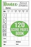 Bunco Score Sheets: 120 Large Bunco Game Score Pads, 888 Score Pads for Scorekeeping, Bunco Score Cards, Bunco Score Book, Bunco Score Pads with Size 6 x 9 inches