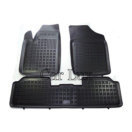 Car Lux AR02713 - Alfombrillas Alfombras de goma tipo cubeta 3D para Partner I