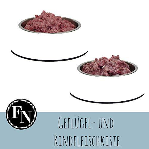 Barf-Paket > Geflügel- und Rindfleischkiste 25 kg < Frostfleisch für den Hund zum Barfen
