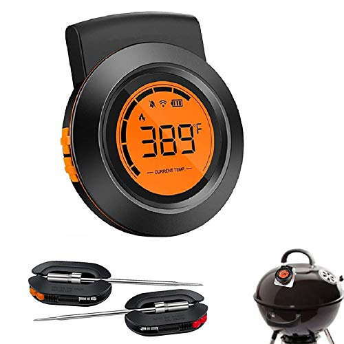 Meat Thermometer Bluetooth Wireless BBQ Thermometer for Grilling, 300FT Digital Meat Thermometer with Dual Probes, Timer, Alarm, Cooking Smoker Thermometer for Kitchen