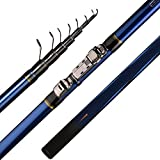 GFFG Telescopic Fishing Rod 4/5/6M Trout Travel Ultra Light Spinning Casting Float Fishing 10-25G...