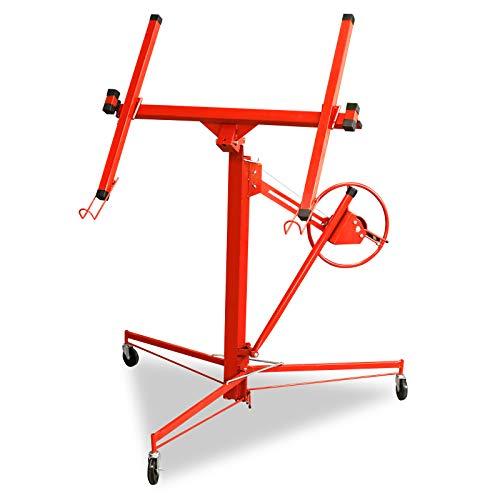 Aufun Lève-plaque pliable pour plaques de placoplâtre - Pour 1 personne - Jusqu'à 70 kg - Hauteur de travail : 130-270 cm