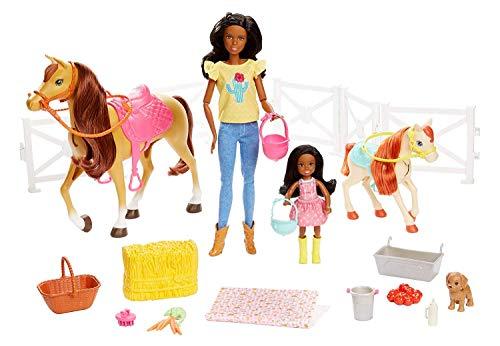 Barbie Mattel GLL82 Hugs N Horses Playset, Brunette
