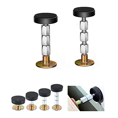 MGQFY 2 Pack Adjustable Threaded Bed Frame Anti-Shake Tool for Bed,Headboard Stoppers Fixer,Bedside Headboards Prevent loosening Anti-Shake Fixer,for Room Wall, Beds, Cabinets, Sofas. (33-112mm)