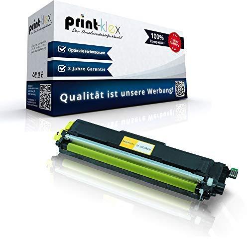 Print-Klex Tonerkartusche kompatibel für Brother MFC-L3700Series MFC-L3710CW MFC-L3730CDN MFC-L3740CDN MFC-L3750CDW MFC-L3770CDW TN243 TN243Y TN-243 Y TN247 Gelb Yellow - Color Plus Serie